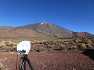 NicAir Camera recording measurements at El Teide, Tenerife