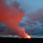 Gas plume at dusk